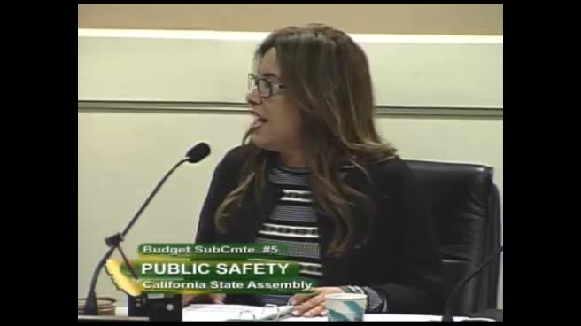 Assembly Budget Subcommittee No  5 on Public Safety Hearing